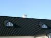 Svarta kupor i svart pannplåt